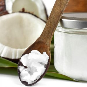 Coconut oil can be used for cooking as well as a skin moisturiser